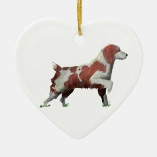 Springer Spaniel Ceramic Heart Decoration