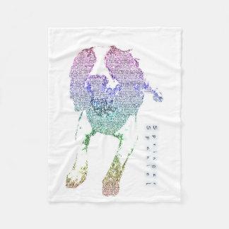 Springer Spaniel Colourful Word Art Blanket