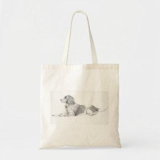 Springer Spaniel created in pencil Canvas Bag