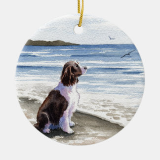 Springer Spaniel Double-Sided Ceramic Round Christmas Ornament