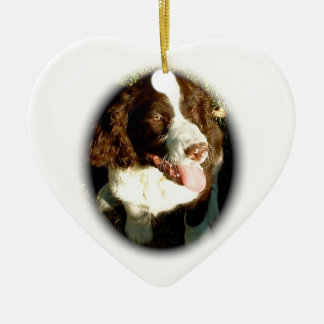 Springer Spaniel Devotion Ceramic Heart Decoration
