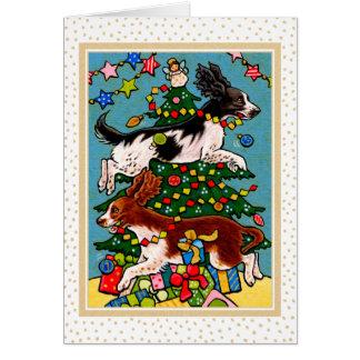 Springer Spaniel Dog Christmas Notecard Note Card