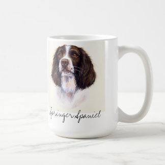 Springer Spaniel dog portrait in watercolour mug