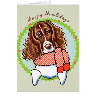 Springer Spaniel Happy Howlidays Greeting Card
