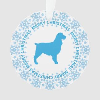 Springer Spaniel Merry Christmas Ornament