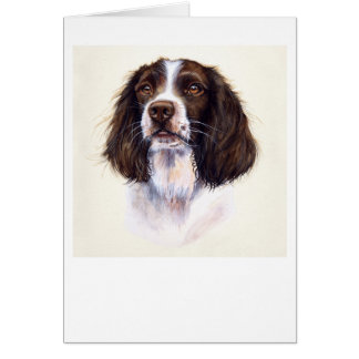 Springer Spaniel Painted in Watercolour Card