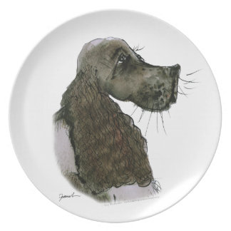 Springer Spaniel, tony fernandes Party Plates