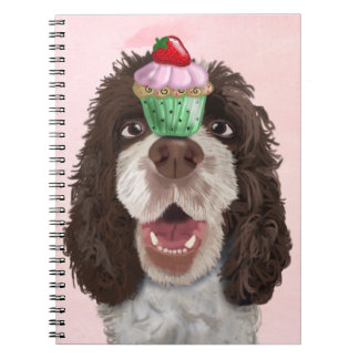 Springer Spaniel with Cupcake 2 Notebooks