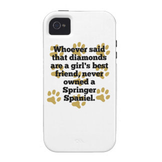 Springer Spaniels Are A Girl's Best Friend Case-Mate iPhone 4 Case