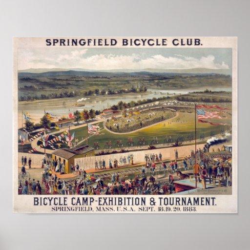 Springfield Bicycle Club Vintage Poster Art