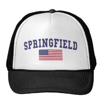 Springfield IL US Flag Cap