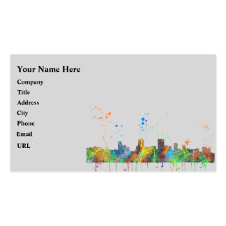 SPRINGFIELD, ILLINOIS SKYLINE PACK OF STANDARD BUSINESS CARDS
