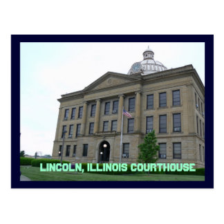 Springfield , Lincoln, Illinois Courthouse Postcard