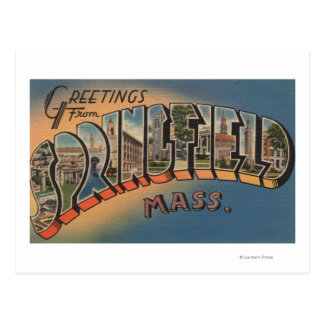 Springfield, Massachusetts - Large Letter 2 Postcard