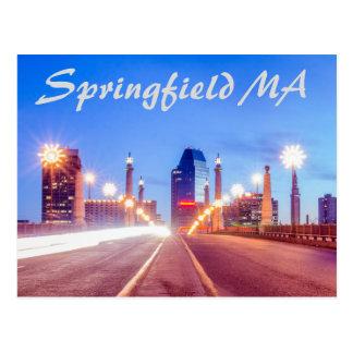 springfield massachusetts skyline postcard