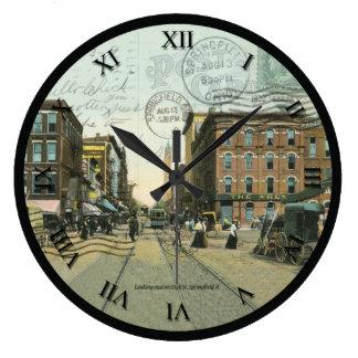 Springfield Ohio Post Card Clock - High St. 1909