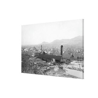 Springfield, OR Town View and Lumber Mills Canvas Print