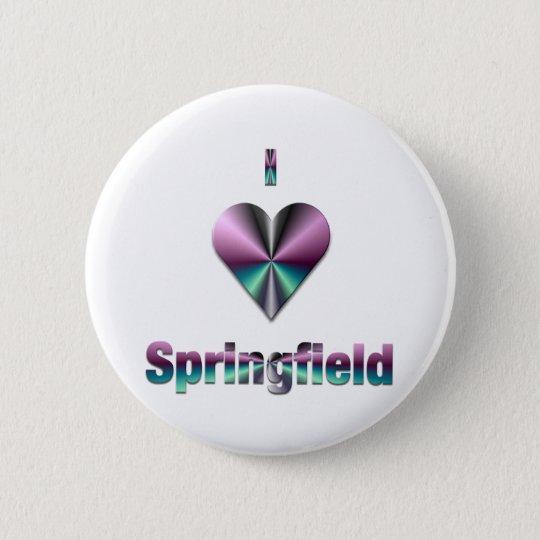 Springfield -- Purple & Turquoise 6 Cm Round Badge