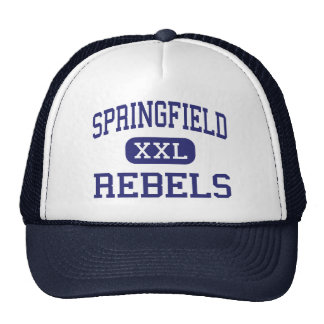Springfield Rebels Middle Springfield Oregon Mesh Hats