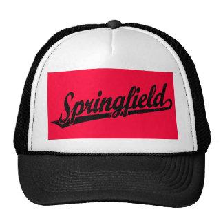 Springfield script logo in black distressed cap