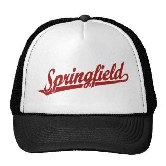 Springfield script logo in red cap