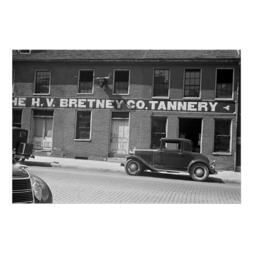 Springfield Tannery, 1930s Poster