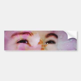 Spring's face bumper sticker