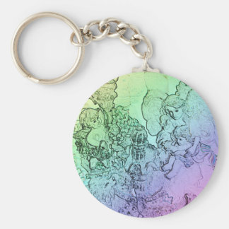 Spring's Mother Basic Round Button Key Ring
