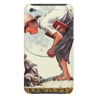 Springtime, 1935 boy with bunny Case-Mate iPod touch case