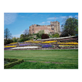 Springtime at Tamworth Castle  flowers Postcard