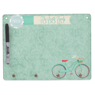 Springtime Bicycle Ride Whiteboard & Key chain...