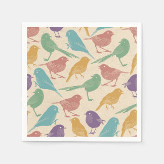 Springtime Bird Design Paper Napkin