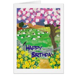 Springtime Birthday Card