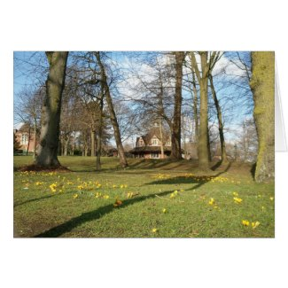 Springtime, Bournville Green Greeting Card
