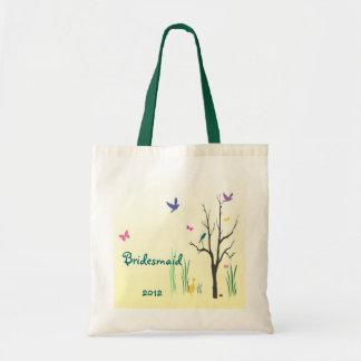 Springtime Bridesmaid Wedding Budget Tote Bag