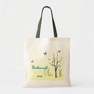 Springtime Bridesmaid Wedding Tote Bag