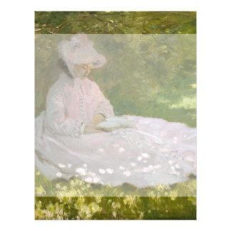Springtime by Claude Monet Flyer Design