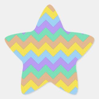 Springtime Chevron Star Sticker