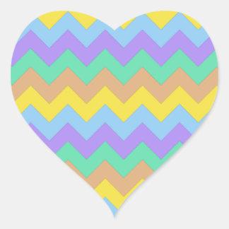 Springtime Chevron Heart Sticker