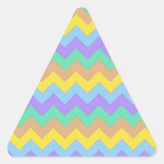 Springtime Chevron Triangle Sticker