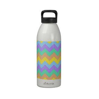 Springtime Chevron Water Bottles