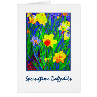 Springtime Daffodils Blank Greeting Card