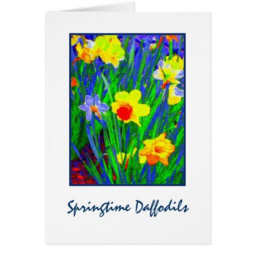 'Springtime Daffodils'  Blank Greeting Card