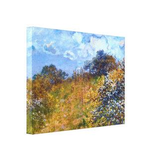 Springtime Fine Art Landscape, Claude Monet Canvas Print