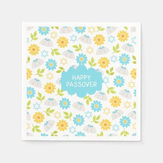 Springtime Floral  Passover Sedar Paper Napkin