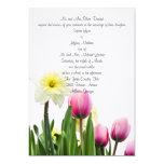 Springtime Floral Wedding Invitation