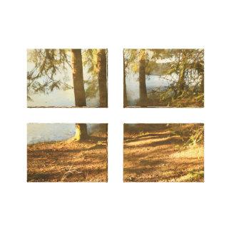 Springtime Forest Pond Canvas Print