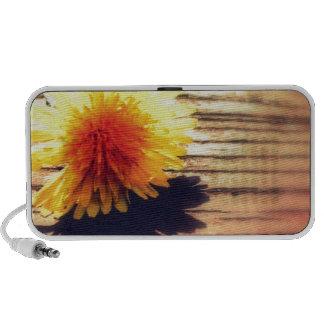 Springtime Golden Yellow Dandelion Wishes Notebook Speakers
