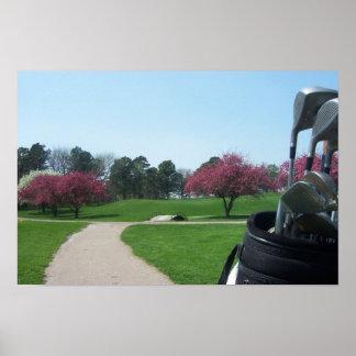 Springtime Golfing Poster