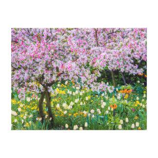 Springtime in Claude Monet's garden Gallery Wrap Canvas